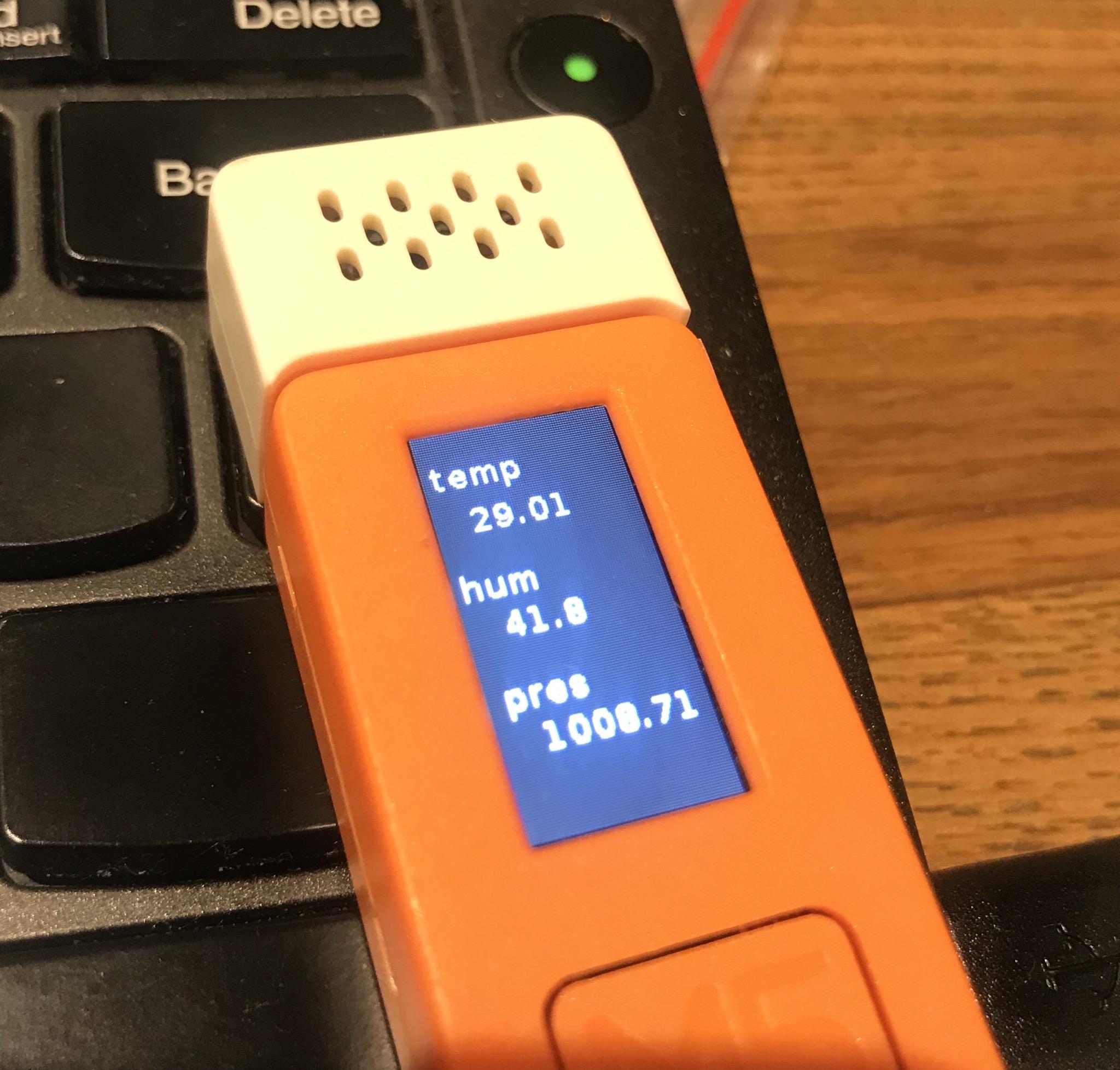 家庭菜園の為に、M5StickCで気温を記録する(UI-Flow)
